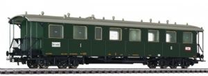 Liliput L334560 Baden 4-Axle 1st/2nd Class Eilzugwagen, Green, Era I - SPECIAL OFFER
